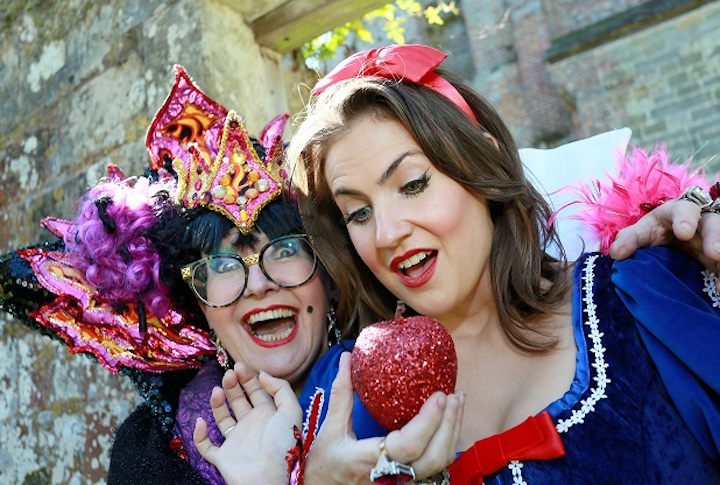 Snow White Panto The 2016 Tunbridge Wells Panto is Snow White, which will be performed at the Assembly Halls in Tunbridge Wells. There was an official launch on Thursday held at Scotney Castle featuring the principal players Su Pollard as the Wicked Queen and Millie Booth as Snow White