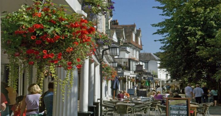 A picture of The Pantiles within spa town Royal Tunbridge Wells