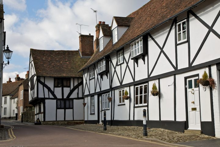 A tudor period home in the town of West Malling